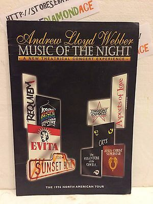 Andrew Ll0Yd Webber Music Of The Night Brochure 1996 North American Tour Used