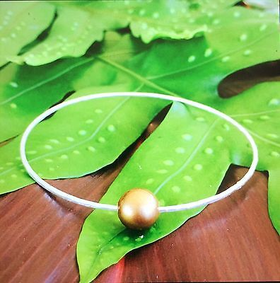 Handcrafted Hawaiian Freshwater Pearl Sterling Silver Bangle