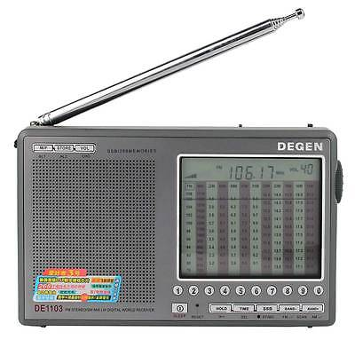 DEGEN DE1103 Digital DSP Radio FM SW MW LW SSB World Receiver Dual Alarm Clock