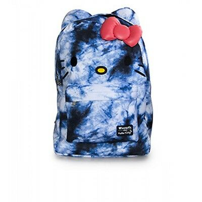 Loungefly Hello Kitty Blue Tie Dye  3D Bow  Backpack