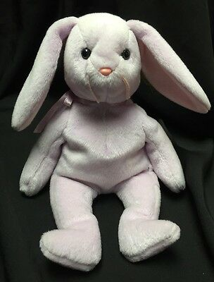 Ty Beanie Baby Floppity the Lavender Bunny Rabbit MWMT