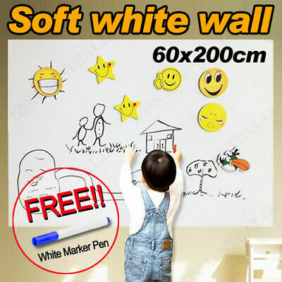 Self-Adhesive Sticker Wall Whiteboard Paper Peel & Stick Removable Message Sheet