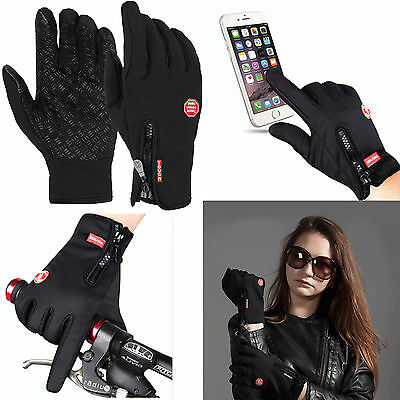1 Pair Waterproof  Men's Women' Winter Warm Ski Camping Motor Snowboard Gloves