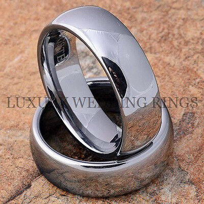 Tungsten Wedding Bands Set Two Rings for Men and Women Titanium Color Size 6-13