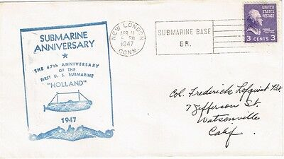 1947 US - 47'th Anniversary of the First US Submarine Holland