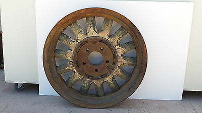 Antique Wood Spoke Car Wheel Auto Maker Unknown 2 of 2