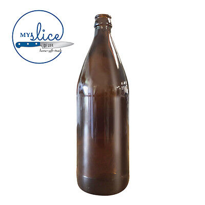 12 x 750ml Crown Seal Amber Bottles - Home Brew
