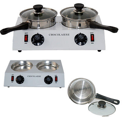 Chocolate Melting Pot Double Pots Commercial Chocolate Tempering Melter Machine