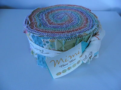 "Moda Jelly Roll ""mimi"" 40 Strips  @ 2 1/2"" X 44"""
