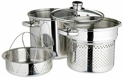 Kitchen Craft World Of Flavours Italian Stainless Steel 4 L Pasta Pot W/ Steame