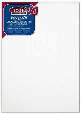 Loxley A1 Size Traditional 18 Mm Depth Ashgate Stretched Artists Canvas White N