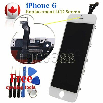 "White LCD Screen + Touch Digitizer + Bezel Frame For Apple iPhone 6 4.7"" Canada"