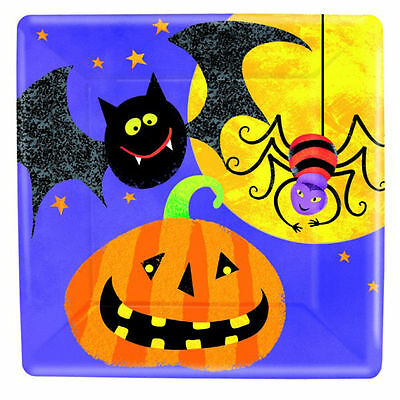 8 Halloween Spirits Poison Cocktail Skull 17.7cm Lunch Square Party Plates