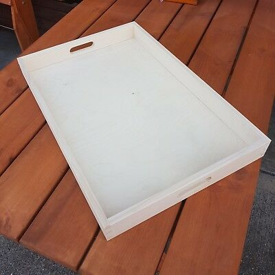 Plain Wood - Wooden Serving Very Large Tray 60cmx40cmx6cm For  Decoupage