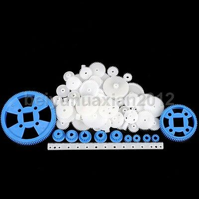 69 Styles Plastic Gears & Rack Module 0.5 Robot Robotic Car Model Part Worm
