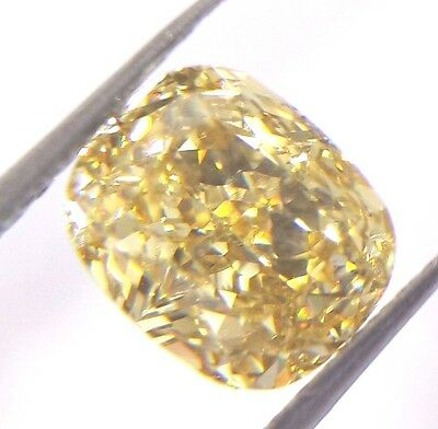1.31ct Fancy yellow diamond natural loose GIA certified cushion cut solitaire VS