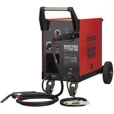 Sealey Professional Gas/No-Gas MIG Welder 190Amp with Euro Torch Welding Machine