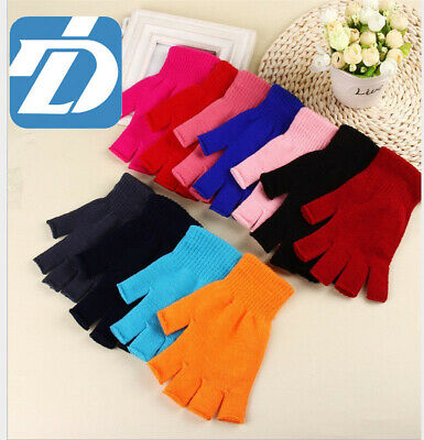 Knitted Warm fingerless Gloves Soft Wool Winter Gloves Women gloves Men gloves