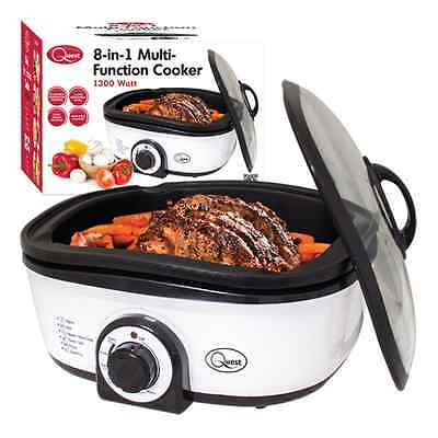 1300W MULTI FUNCTIONAL 8 in1 COOKER ROASTING FRYING BAKING SLOW COOK STEAM GRILL