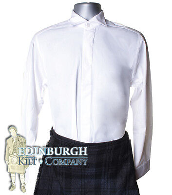 Victorian Collar Shirt - Ideal For Kilt Outfit - White & Range Of Sizes!