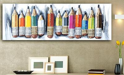 Artistic Drawing Classroom Pencil Hand Painted Canvas Painting Wall Art