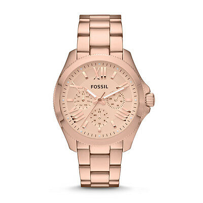 FOSSIL  CECILE  MULTIFUNCTION Rose Watch  AM4511 Stainless Steel Stripe