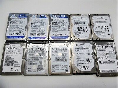 Lot of 10 AS IS Defective Laptop Hard Drive WD Seagate Hitachi Fuj HP DELL Apple