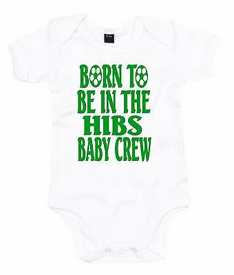 Born To Be In The Hibs Baby Crew ~ Hibernian Fc Football Club ~ Baby Grow Vest