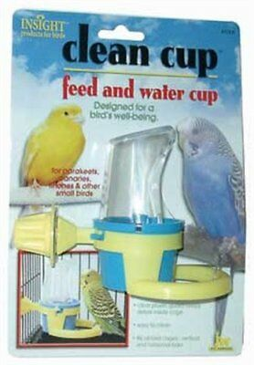 JW Pet Company Clean Cup Feeder and Water Cup Bird Accessory Small Colors may...