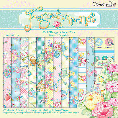 """DOVECRAFT SANTOROS 6/"""" X 6/"""" PAPERS SAMPLE PACK 12 6/"""" X 6/"""" FOR CARDS AND CRAFTS"""