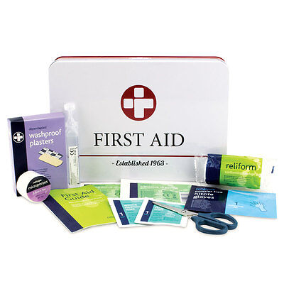 First Aid Kit In Retro Vintage Style Tin - Includes 30 Essential Items