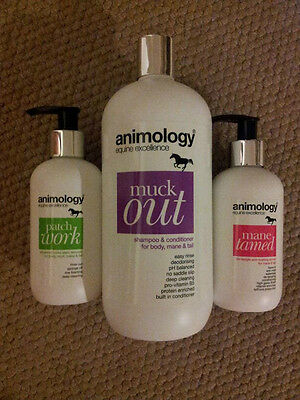 Animology Equine Grooming Products New Stain Remover, De-Tangle, Shampoo