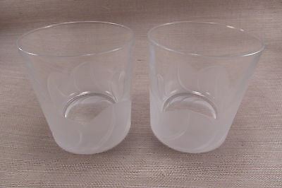 Cris D' Arques Durand Crystal FLORENCE Old Fashioned Glasses - Set of Two