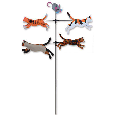 """""""Cats"""" Carousel Yard Spinner (21614) by Premier"""
