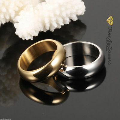 Quality 18K Gold Plated Stainless Steel Wedding/Engagement Rings  Sizes 5-13
