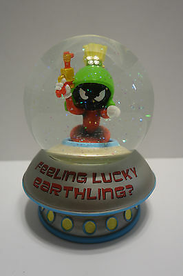 Disney's Tomorrowland Screen Used, Marvin the Martian Waterglobe Music Box