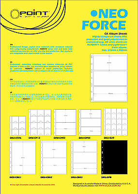 Stock Pages-BLACK- Pack of 10 sheets 3 Strips per page. Double sided. 195mmx84mm