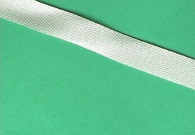 Ribbon Poly acetate- off white 7mm wide-  3 x 5 metre lengths