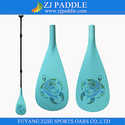 Discounted Z&J SPORT 3-Piece Adjustable SUP Paddle With Fiber Blade Carbon Shaft
