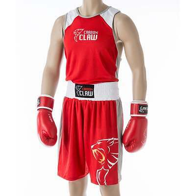 Carbon Claw ATM Premium Boxing Fight Shorts - Red