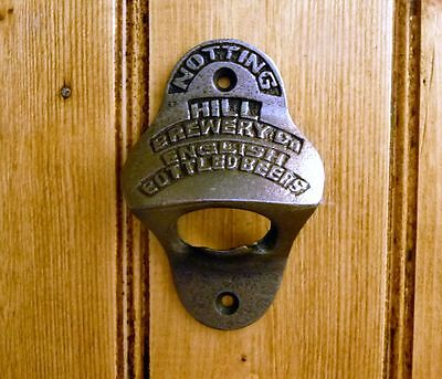 Vintage Style Cast Iron Notting Hill Brewery Wall Mounted Beer Bottle Opener