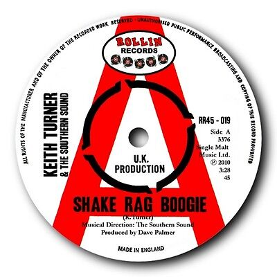 "Keith Turner & Southern Sound- ""shake Rag Boogie"" 45 - Blues Bopper Supreme!"