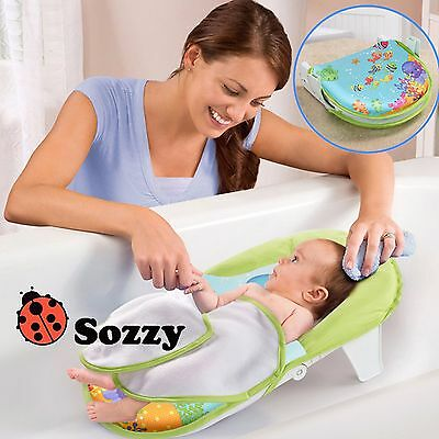 Baby Infant Newborn Bath Support Bathup Sling Seat Stand Aid Safety Head Support