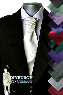Luxury Pre-Tied Formal Ruche Tie - Cravat-Style 'scrunch' Look - 12 Colours!