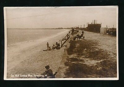 Kent DYMCHURCH Sea Wall 1937 RP PPC KE8 stamps