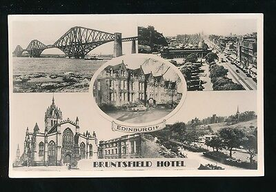 Scotland Lothian EDINBURGH Bruntsfield Hotel Advert m/view c1950s RP PPC by Days