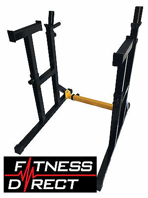 Fitness Direct Adjustable Squat Rack Barbell Stand Dip Weight Lifting
