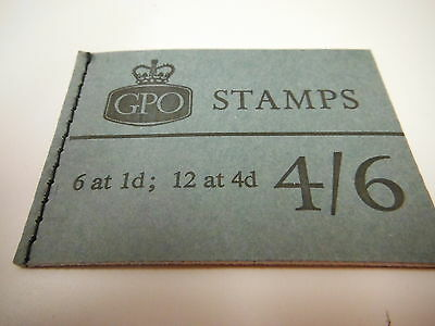 Pre-decimal British stamp book four shillings and sixpence GPO 6@1d 12@4d