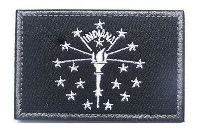 Indiana STATE FLAG USA ARMY MORALE TACTICAL MILITARY BADGE PATCH