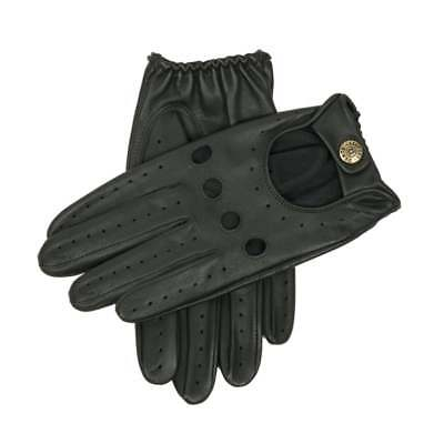 Dents Delta Men's Leather Classic Driving Gloves BRITISH RACING GREEN